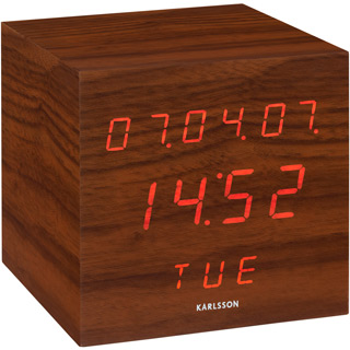 wecker cube. Black Bedroom Furniture Sets. Home Design Ideas