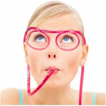 Strohhalmbrille Silly Straw - Bild 1