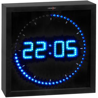 led studiouhr blue radio. Black Bedroom Furniture Sets. Home Design Ideas