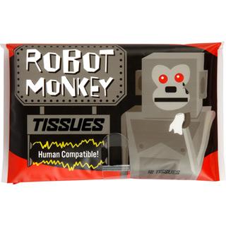 Retro-Taschentücher Robo Affe