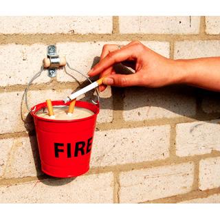 aschenbecher fire bucket. Black Bedroom Furniture Sets. Home Design Ideas
