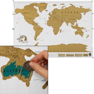 Rubbel Poster Weltkarte
