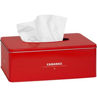 Cabanaz Taschentücher Box Rot