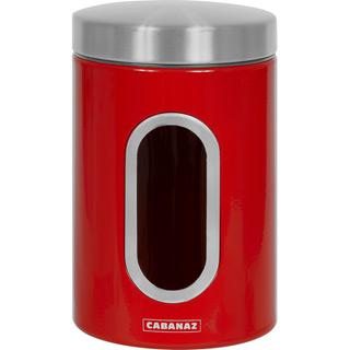 Cabanaz Vorratsdose mit Sichtfenster Rot