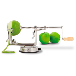 Apfelschäler Deluxe aus gehärtetem Aluminium