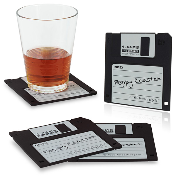 Untersetzer 1.44 MB Floppy Diskette (4x Schwarz)