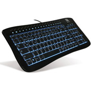 Illuminated Dark Metal Keyboard