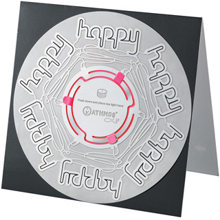 Mathmos Candle Card Happy Happy