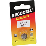 Knopfzelle Becocell LR44 A76 13GA